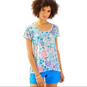 Lilly Pulitzer Inara linen tee in Gypsea